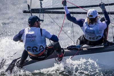 Billy Besson pendant les Jeux Olympiques de Rio malgré une hernie discale !