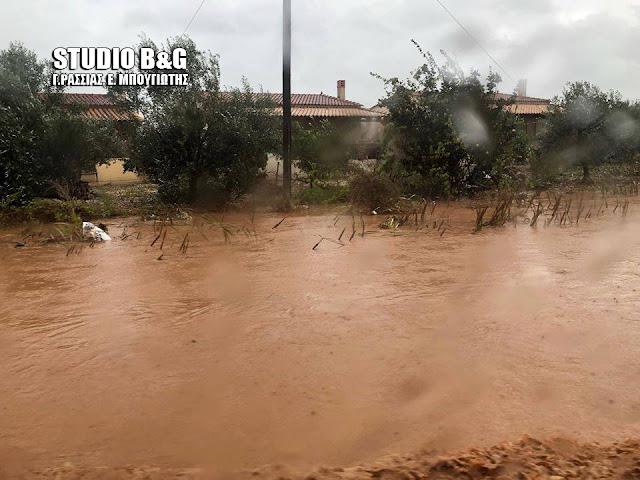 Αργολίδα: Ξεχείλισε ποτάμι στο Σκαφιδάκι - Απεγκλωβισμός οικογένειας στη Φρέγκαινα