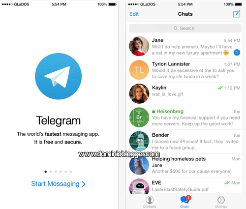 Telegram Messenger para iOS