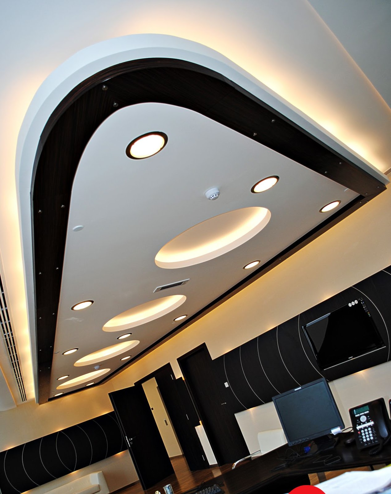 Design Living Room 0003 Modern False Ceiling 2016