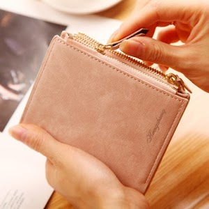 Top Quality Small Wallet PU Matte Leather Purse For Womens