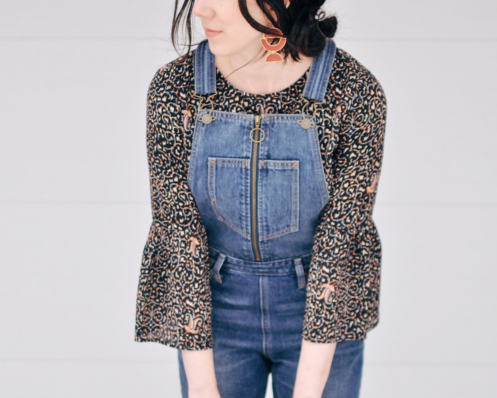 alaska fashion outfits madewell fiesta levis overalls chanel flats