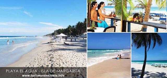 PLAYA EL AGUA: Se ha convertido en una de las playas más afamadas de la Isla de Margarita en Venezuela.