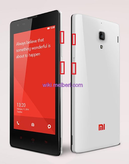 How to Hard reset Xiaomi Redmi 1S
