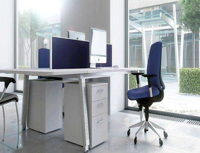 best buy white blue modern office furniture New Zealand for sale online
