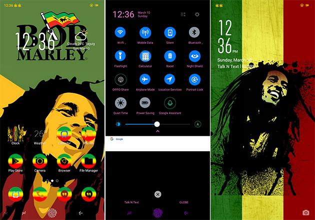 Oppo Theme: Oppo A3s Bob Marley Theme