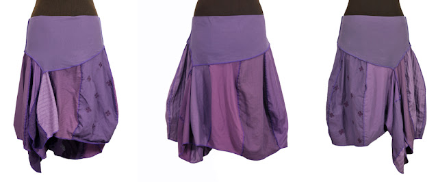 plumilicious purple upcycled skirts from secret lentil clothing
