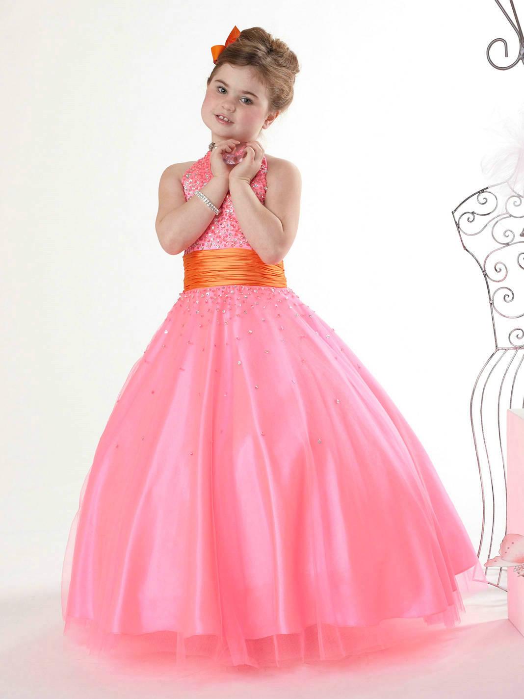 Girls Black Pageant Dress