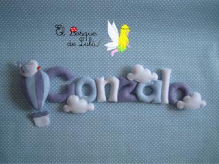 nombre-fieltro-felt-feltro-Gonzalo-elbosquedelulu-hechoamanoparati-name-banner-baby-room-regalo-nacimiento-personalizado-decoración-infantil