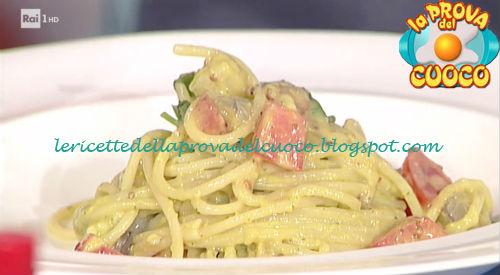 Spaghetti freddi con guacamole e gamberi ricetta Pascucci da Prova del Cuoco