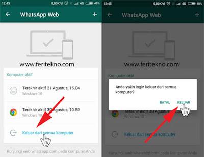 mengatasi akun whatsapp yang disadap 2