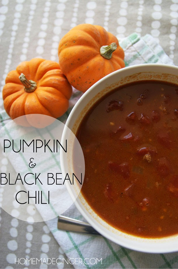 Pumpkin and black bean chili recipe
