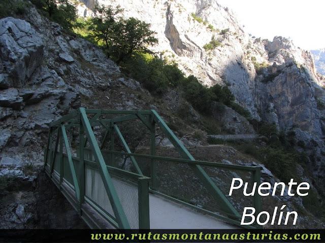Ruta Caín Terenosa: Puente Bolín en el Cares