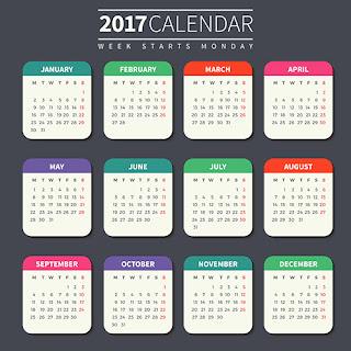 2017カレンダー無料テンプレート171