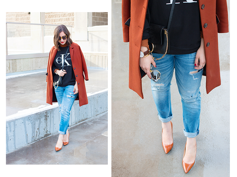 How to style the Calvin Klein for UO sweatshirt