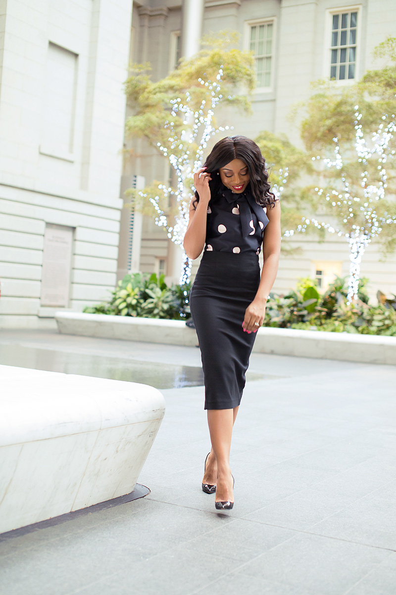 9 to 5 work chic, work outfit, pencil skirt, www.jadore-fashion.com