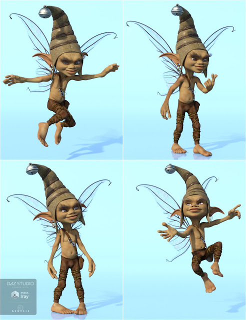 Impish Poses for 3D Universe Pixie
