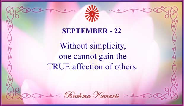 Thought For The Day September 22