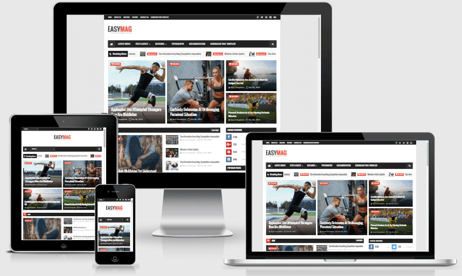 autoplay menu builder templates - easy mag responsive magazine blogger template by