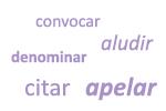 Sinónimos de 'llamar'