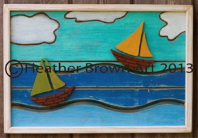 boat art folk art