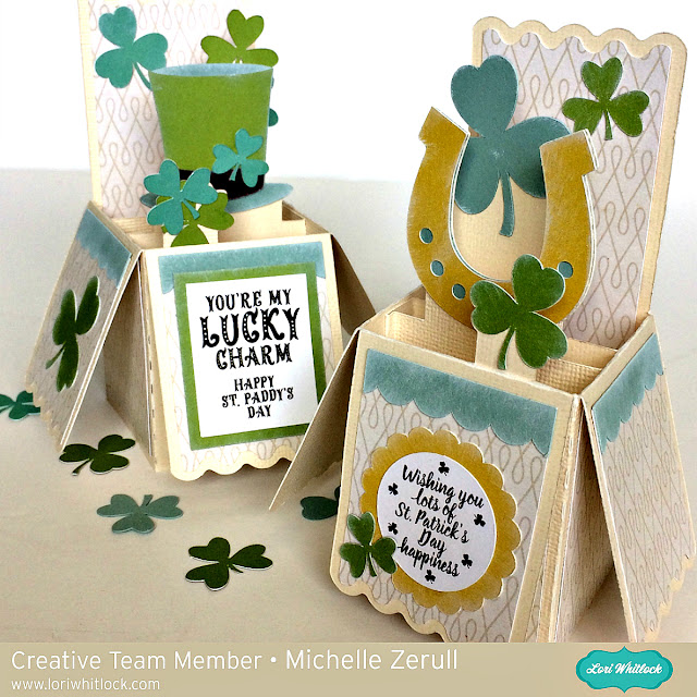 Lori Whitlock St. Patrick's Day 3D Box Cards
