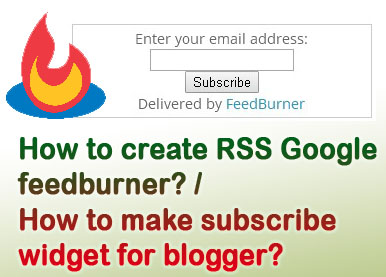 How To Add Blogger Feed To Google Feedburner