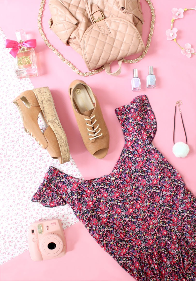 fashion summer outfit flatlay