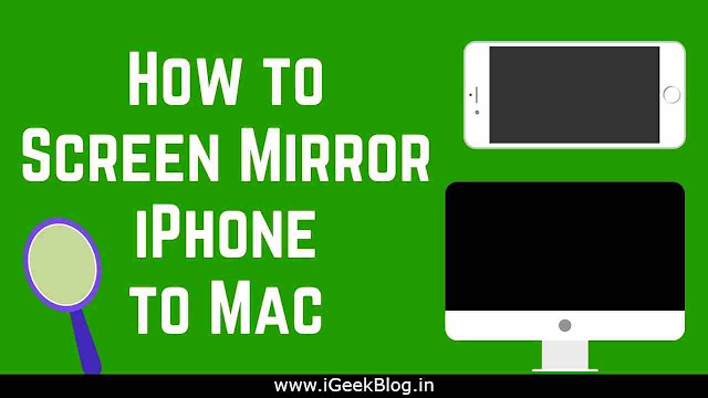 How To Mirror iPhone To MAC