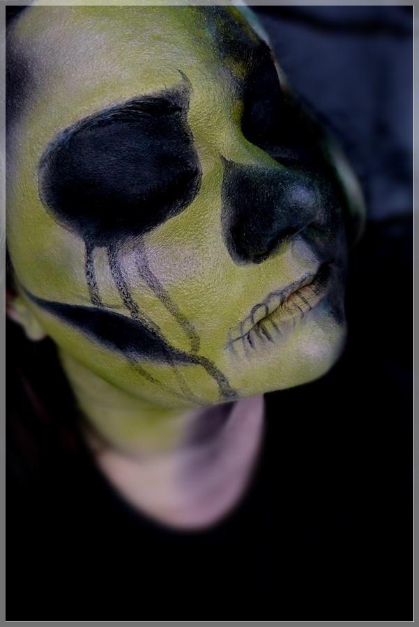 harry potter morsmordre makeup look
