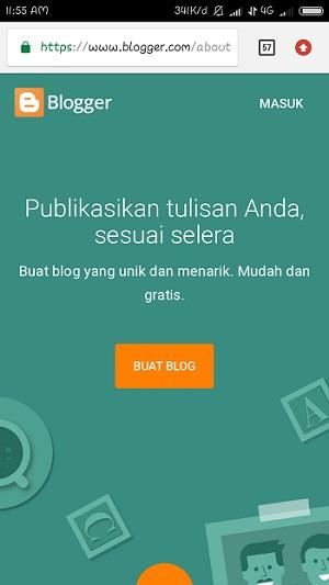 Cara Membuat Blog Dengan Hp Android Sampai Menghasilkan Uang