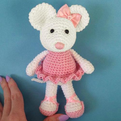 Ballerina Mouse Amigurumi -  Free Crochet Pattern