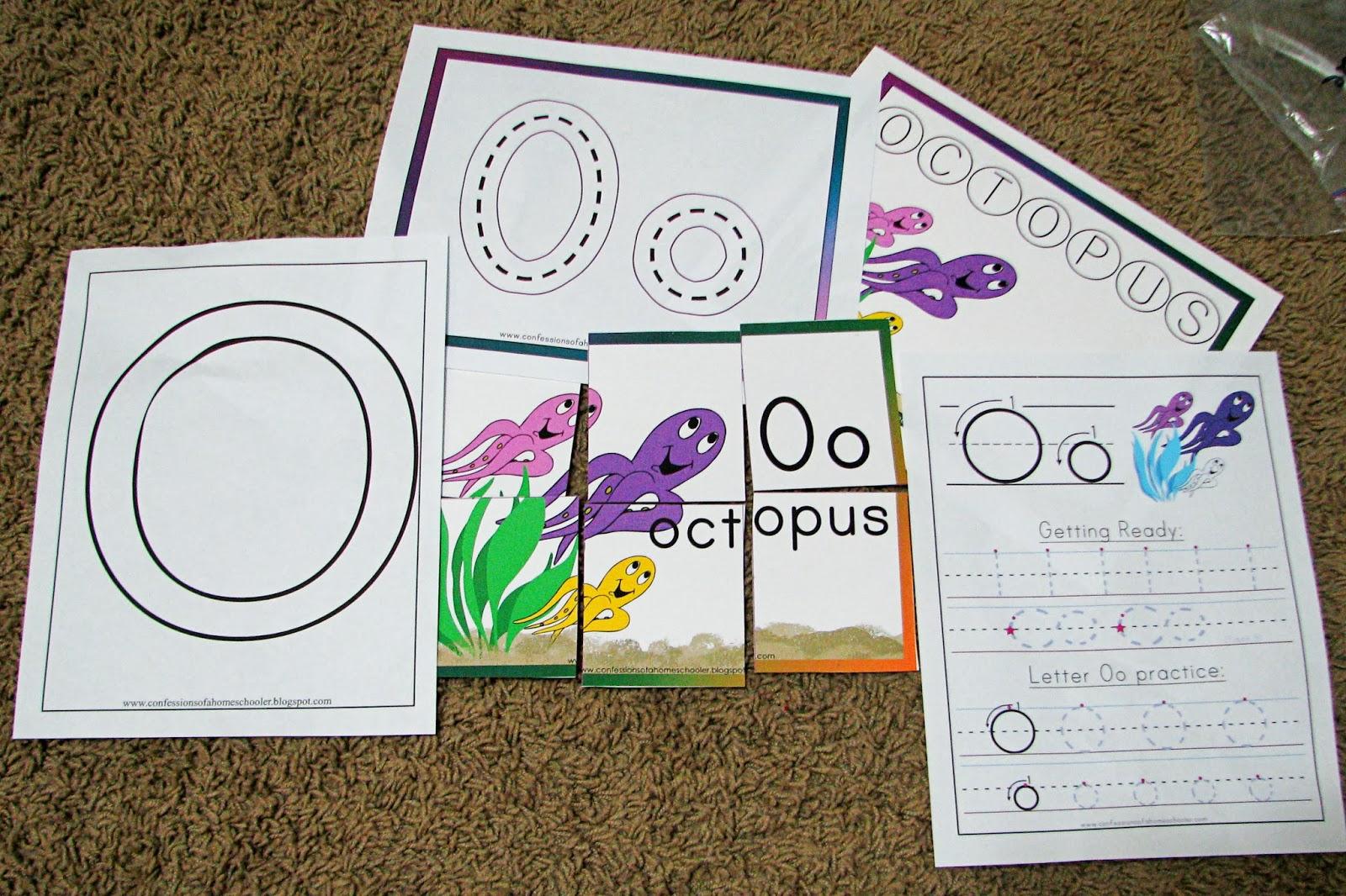 Mommy S Little Helper Letter O Octopus Theme