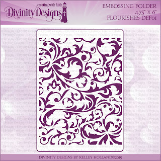 Divinity Designs Embossing Folder: Flourishes