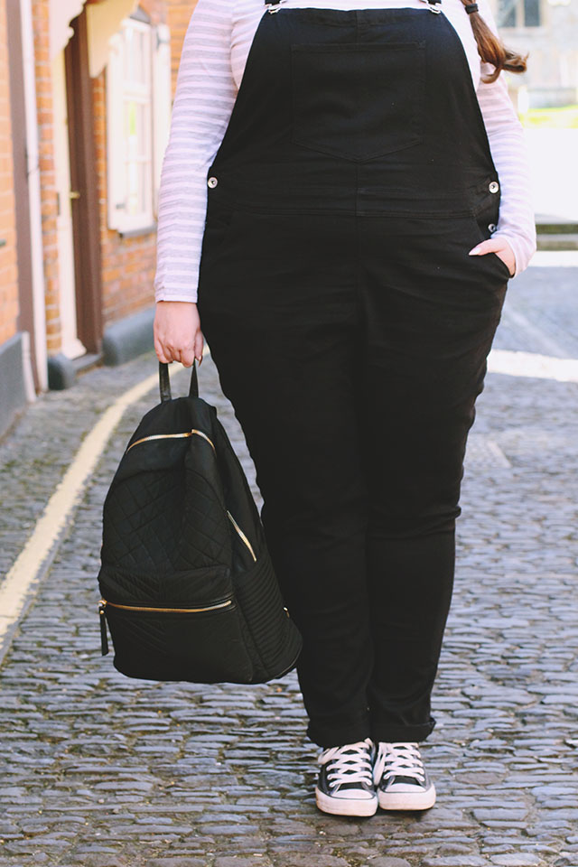 Black padded backpack