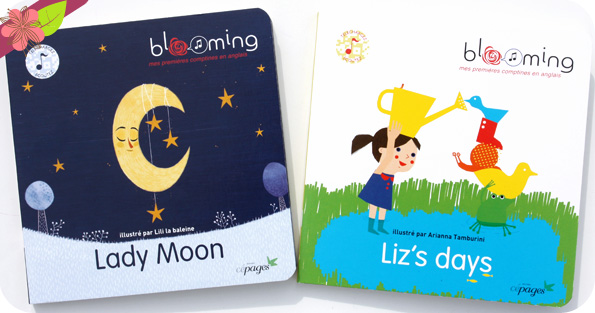 Lady Moon et Liz's days - collection Blooming - éditions Cépages