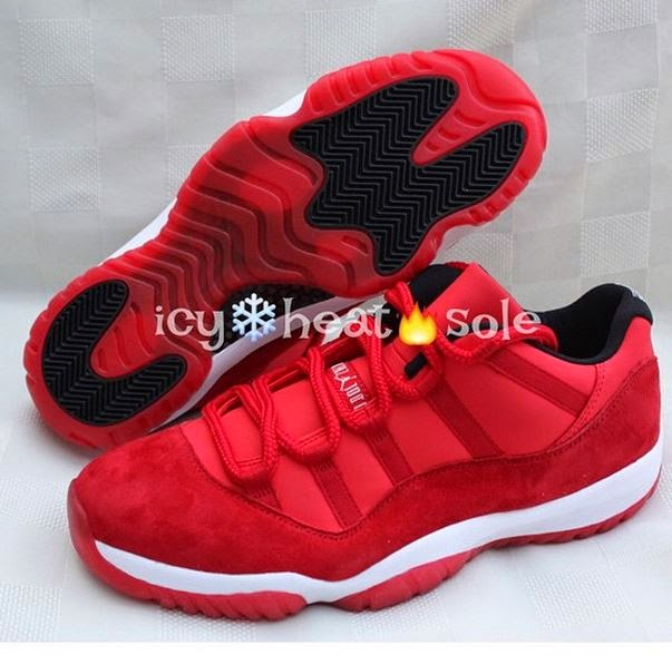 a54261d82a0 ... of Air Jordan 11 Low Red Suede Sample Sneakers which are pretty  awesome! No word if these will release but of course will keep you posted.