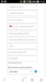 Cara Baru  Mendaftar Paypal Menggunakan HP