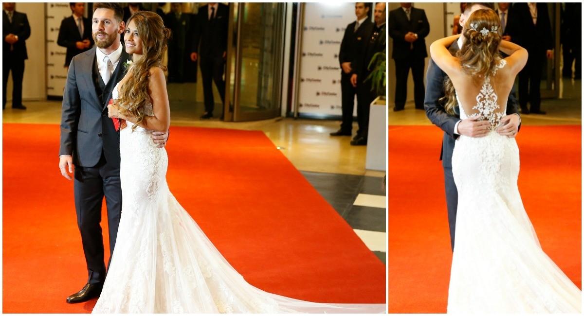 el vestido de novia de antonella roccuzzo | entre veredas