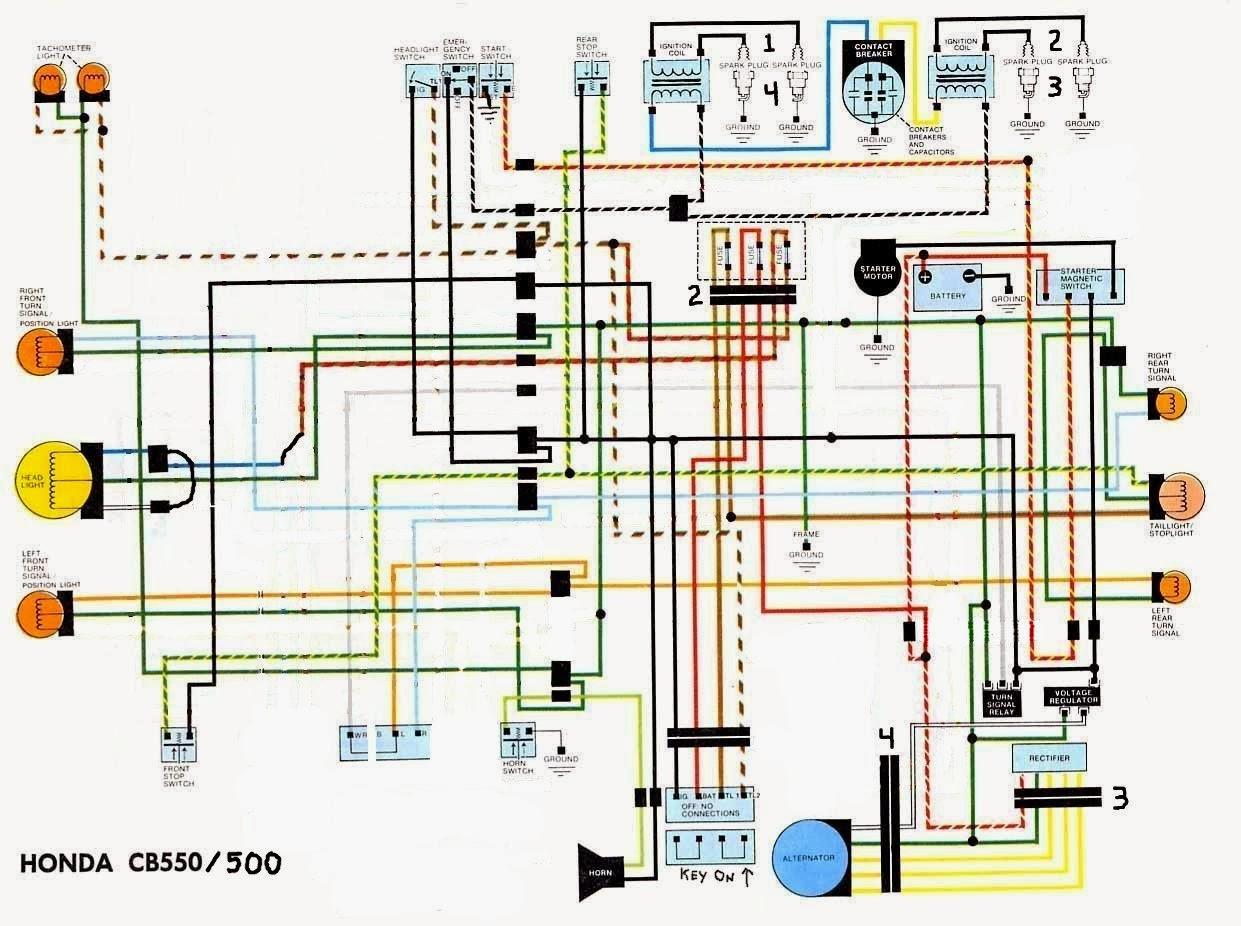 cb500 wiring diagram schematic