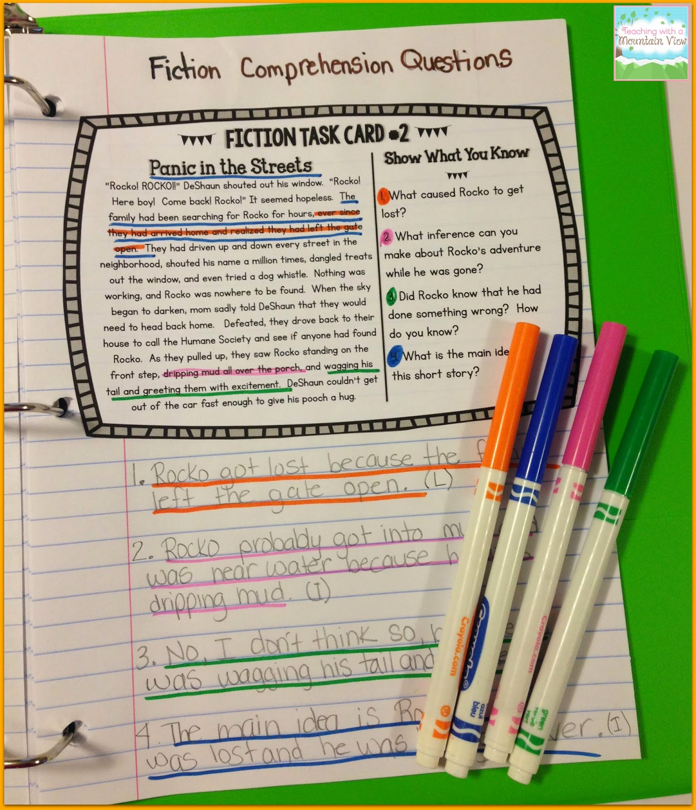 5th Grade Passages With Inferential Questions
