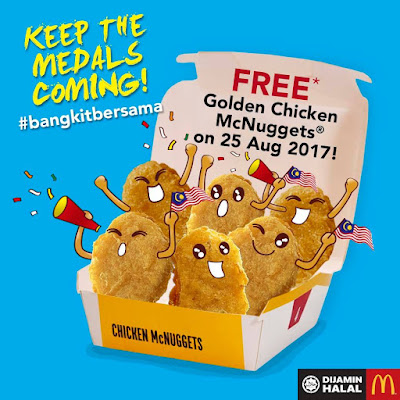 McDonald's FREE Chicken Mc Nuggets Giveaway