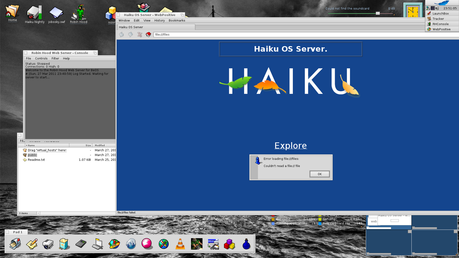 Computer notes: File transfer to remote computers from Haiku
