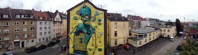 "Italian Street Artist Pixel Pancho Paints ""Rusted Ideas"" Mural In Dusseldorf, Germany. 4"