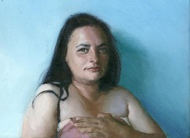 "American Figurative Painter-""Nathalie Vogel 1975"""