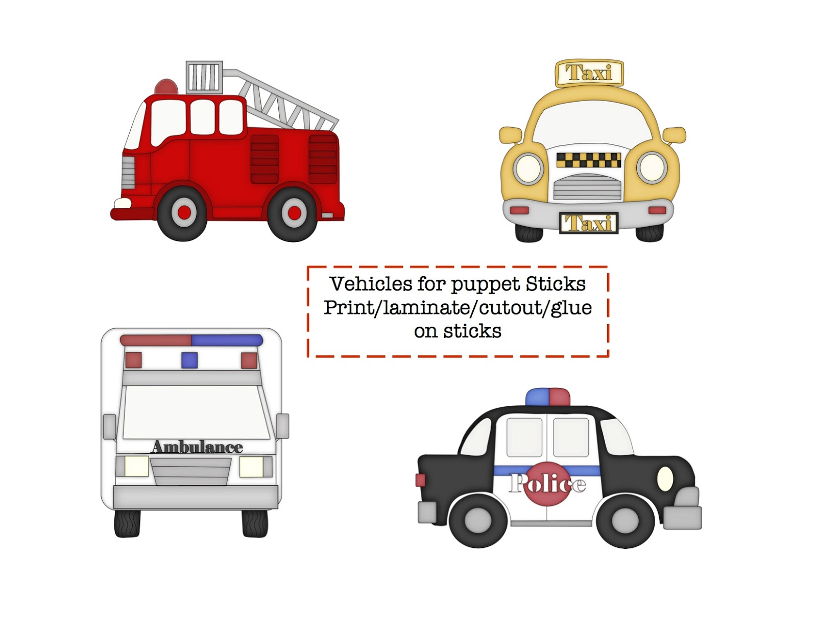 Little Vehicles Printable Preschool Printables