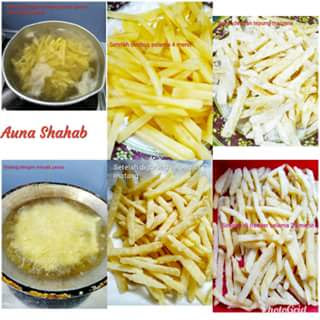 membuat kentang kfc