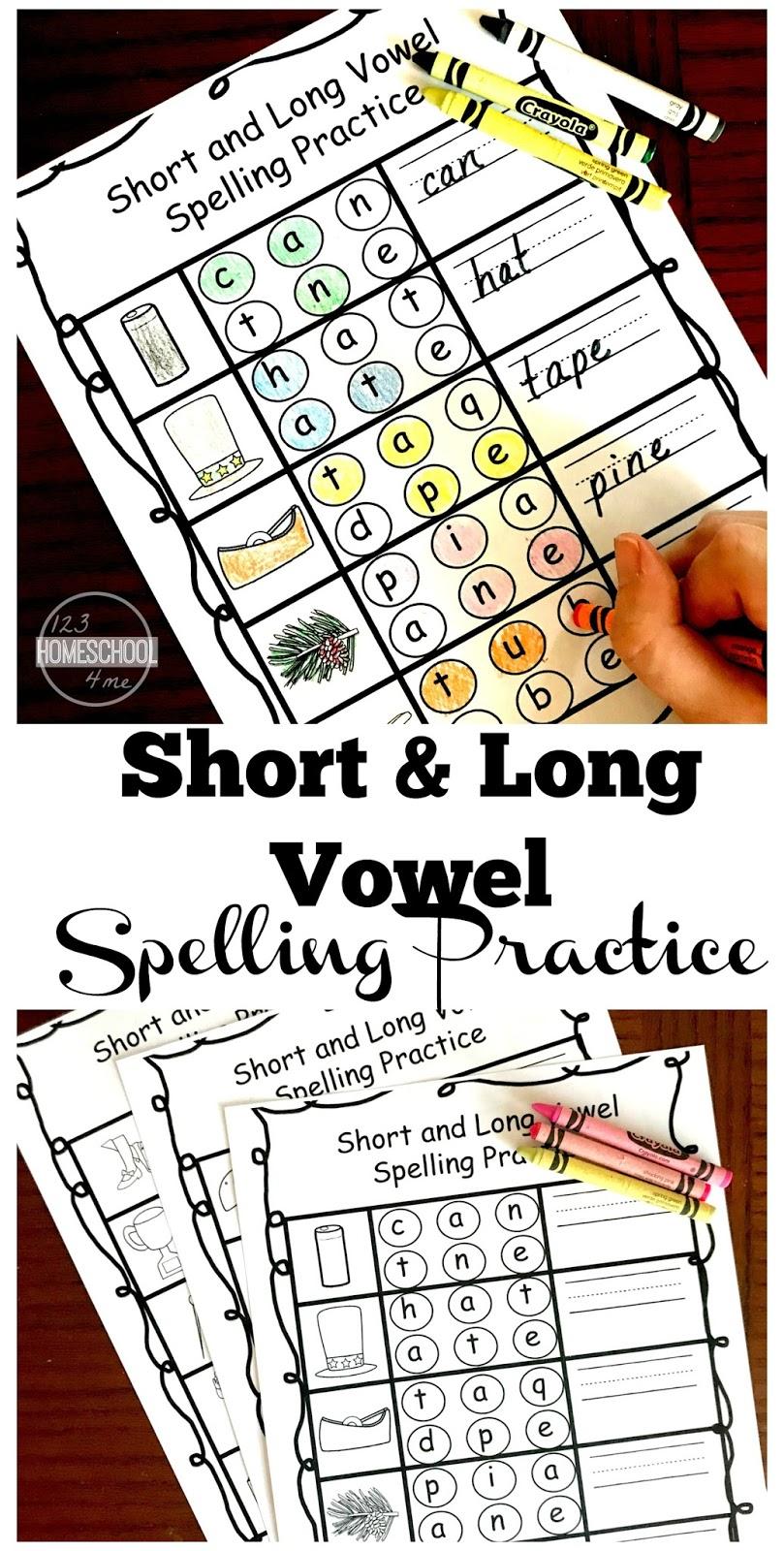 FREE Short & Long Vowel Spelling Practice