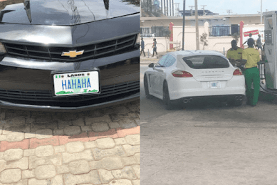 See Photos of Two Nigerian Cars Laughing at Poverty