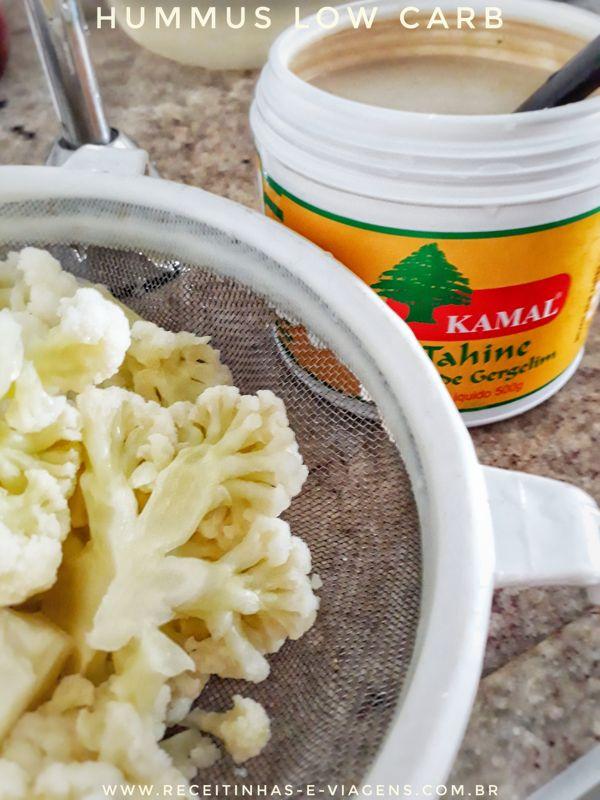 Como fazer hummus low carb com couve flor